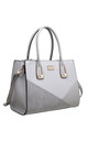CROC PATCHWORK TOTE BAG IN GREY by BESSIE LONDON