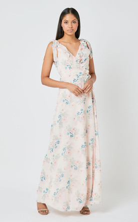 Lilly Bridesmaid Maxi Dress In Cream Daisy Print by Maids to Measure Product photo