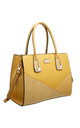 CROC PATCHWORK TOTE BAG IN YELLOW by BESSIE LONDON
