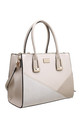 CROC PATCHWORK TOTE BAG IN BEIGE by BESSIE LONDON