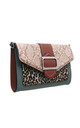 FLAP-OVER BUCKLE CROSSBODY BAG IN PINK ANIMAL PRINT by BESSIE LONDON