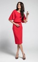 Pencil Dress with Split Sleeves in Red by By Ooh La La