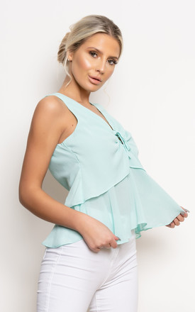 Elsie Sleeveless Top in Mint by Miss Attire