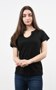 Sparkly V-Neck Tshirt in Black by Lucy Sparks