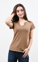 Sparkly V-Neck Tshirt in Brown by Lucy Sparks
