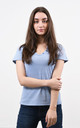 Sparkly V-Neck Tshirt in Light Blue by Lucy Sparks
