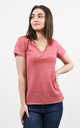 Sparkly V-Neck Tshirt in Red by Lucy Sparks