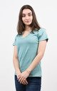 Sparkly V-Neck Tshirt in Teal by Lucy Sparks