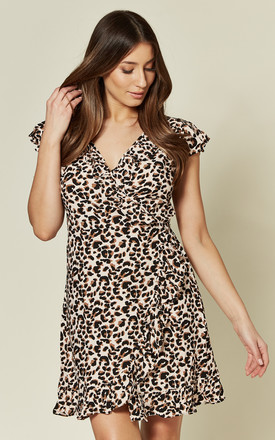 Rica Dress In Pink Panther Leopard Print by Motel Product photo