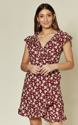 Rica Dress In Wild Fleur Maroon Floral Print by Motel Product photo