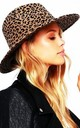 LEOPARD PRINT FEDORA HAT in Brown by LOES House