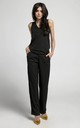 Relaxed Fit Sleeveless Jumpsuit in Black by By Ooh La La