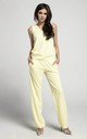 Relaxed Fit Sleeveless Jumpsuit in Yellow by By Ooh La La