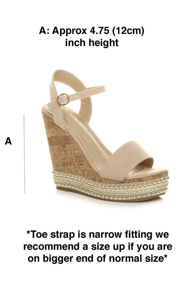Nude Corked Stud Wedged Platforms by Shoe Closet