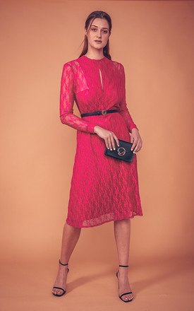 Lace Midi Dress Amelie In Pink by COCOOVE Product photo