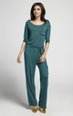 Green Relaxed Fit Jumpsuit with Waist Tie by By Ooh La La