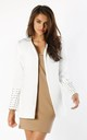 White Jacket with Sleeve Detail by By Ooh La La