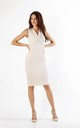 Sleeveless Fitted Dress in Beige by By Ooh La La