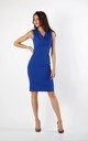 Sleeveless Fitted Dress in Blue by By Ooh La La