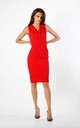 Sleeveless Fitted Dress in Red by By Ooh La La