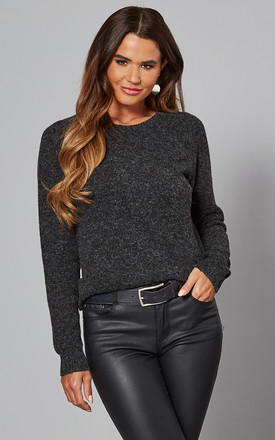 Round Neck Jumper In Black by VM Product photo
