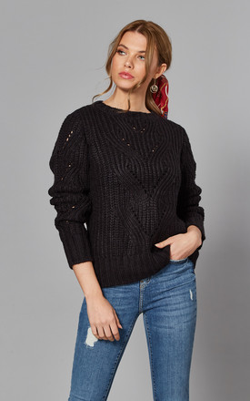 Jumper With Patterned Knit In Black by Noisy May Product photo