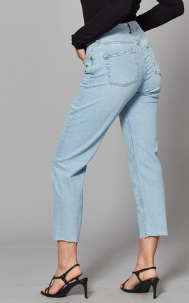 Straight Leg Ankle Jeans in Light Blue by Noisy May
