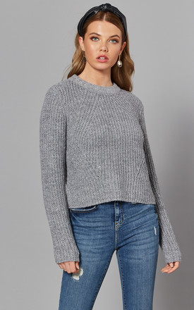 Cropped Jumper In Medium Grey by ONLY Product photo