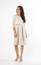 Beige Layered Flared Dress with Pockets by By Ooh La La