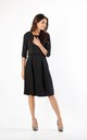 Black Layered Flared Dress with Pockets by By Ooh La La