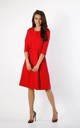 Red Layered Flared Dress with Pockets by By Ooh La La