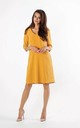 A-Line Dress with Pockets in Yellow by By Ooh La La