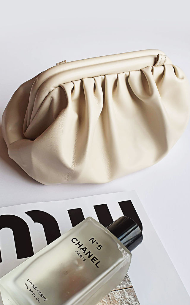 Cloud Clutch Bag in Cream by Rianna Phillips
