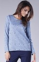 Blue Jumper with Heart Details by By Ooh La La