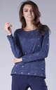 Navy Blue Jumper with Heart Details by By Ooh La La