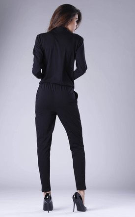 Black Jumpsuit with Pockets by By Ooh La La