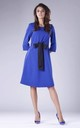Blue Flared Dress with Bow in Front by By Ooh La La