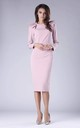 Powder Pink Tailored Dress with Statement Shoulders by By Ooh La La