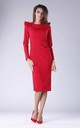 Red Tailored Dress with Statement Shoulders by By Ooh La La