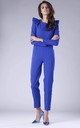 Blue Jumpsuit with Frill Shoulders by By Ooh La La