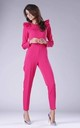 Pink Jumpsuit with Frill Shoulders by By Ooh La La