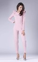 Powder Pink Jumpsuit with Frill Shoulders by By Ooh La La