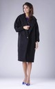 Oversized Coat in Black by By Ooh La La