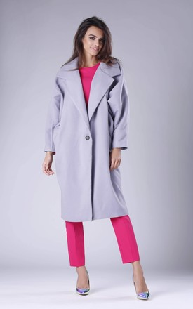 Oversized Coat in Grey by By Ooh La La