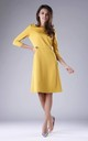 Yellow A-Line Flared Dress with 3/4 Sleeves by By Ooh La La