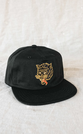 Liars Wolf 5 Panel Cap In Black by P&Co Product photo