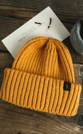 Yellow Fisherman Beanie by P&Co Product photo