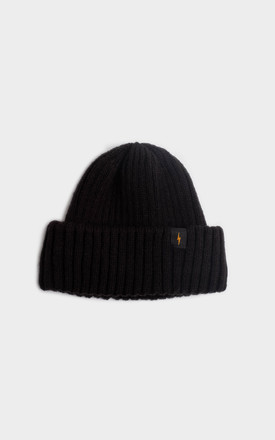 Black Fisherman Beanie by P&Co Product photo