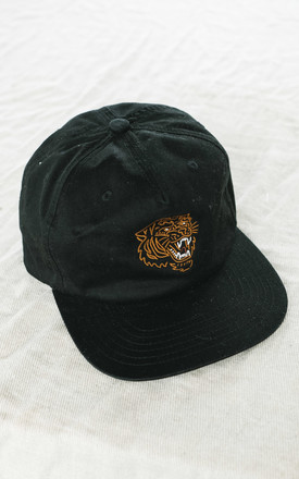 Tiger 5 Panel Cap In Black by P&Co Product photo