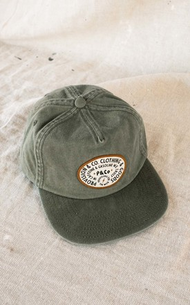 Gasoline 5 Panel Cap In Green by P&Co Product photo